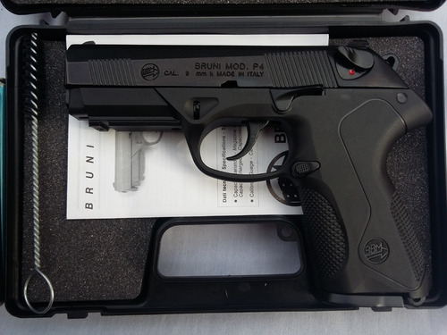 pistola de fogueo bruni mod p4-no letal uso civil defensa