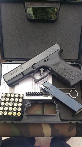 pistola de fogueo no letal legal glock 17 gap salvas + kit
