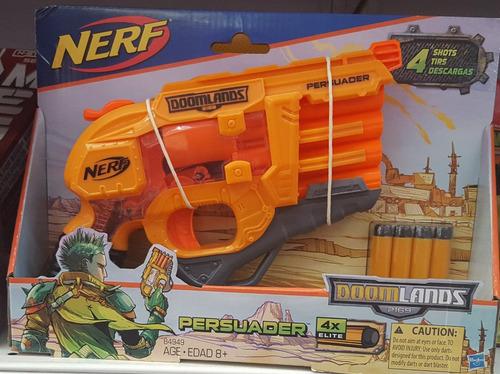 pistola de juguete de dardos dommlands nerf incluye 4 dardos