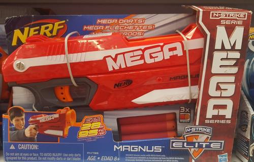 pistola de juguete de dardos nerf mega magnus