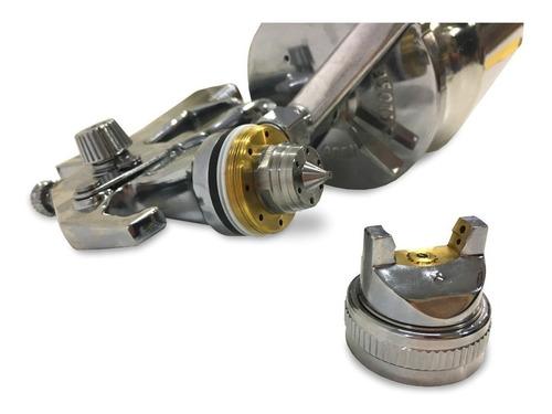 pistola de pintar alta presión tacho de aluminio 1 lt barovo