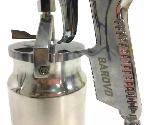 pistola de pintar soplete barovo alta presion tacho aluminio