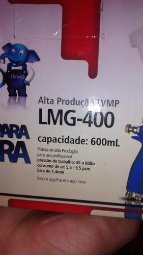 pistola de pintura alta producao lmg 400 forusi regulador ar