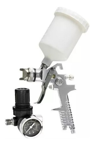 pistola de pintura com manometro hvlp para pintar co valvula