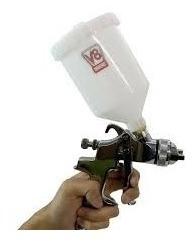 pistola de pintura de hvlp bico 1,4mm hvlp8 plus v8 brasil