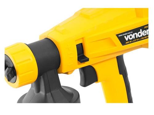 pistola de pintura eletrica vonder. 400w 110v