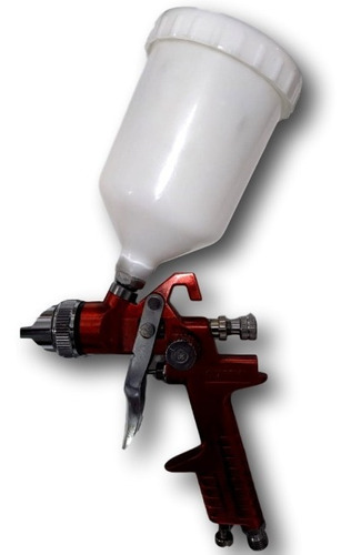 pistola de pintura gravidade hvlp 600 ml bico 1.4 vermelha