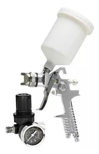pistola de pintura hvlp aerografo com acessorios completa