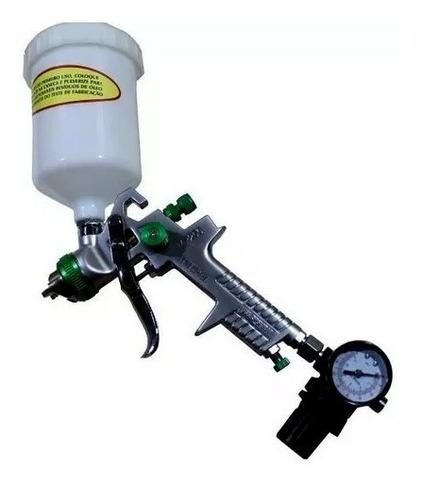 pistola de pintura hvlp wimpel mp-250 bicos 1.4 e 1.7 600 ml