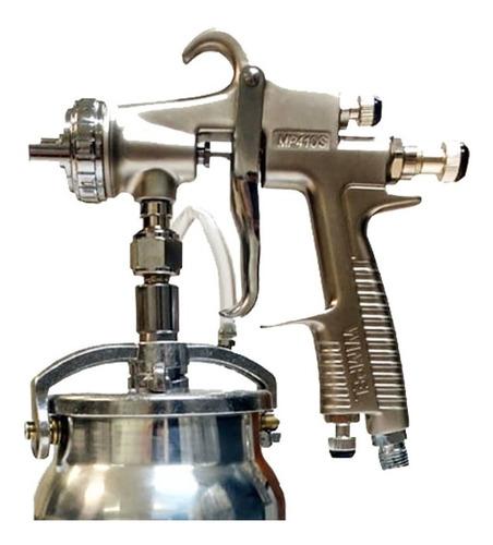 pistola de pintura mp-410 1,8mm sucção c/caneca + mascara