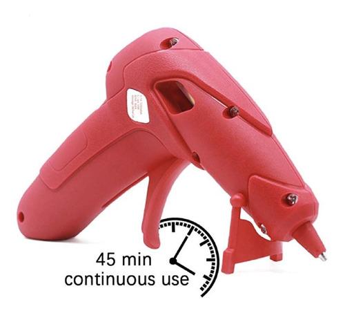 pistola de silicon inalámbrica, puerto usb color rojo