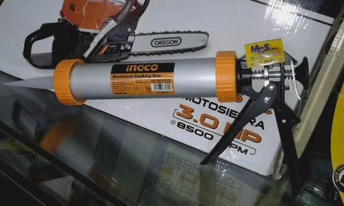 pistola de silicon tubo de aluminio marca ingco