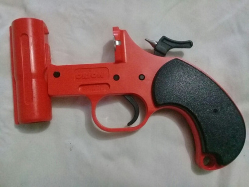 pistola de vengalas marca orion color naranja