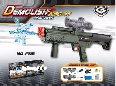 pistola demoledora ksg con bala de gel o gelball