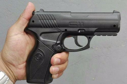 pistola deportiva crosman c11 de co2, municion, polimero
