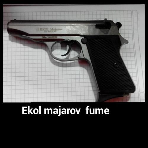 pistola detonadora fogueo ekol majarov fume + 50 tiros