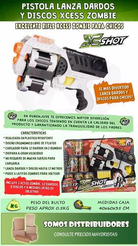 pistola doble x-shot xcess zombie alcance 17 mts