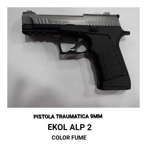 pistola ekol alp 2 color fume traumatica 9mm + 50 tiros