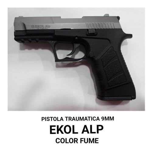 pistola ekol alp color fume traumatica 9mm +50 tiros
