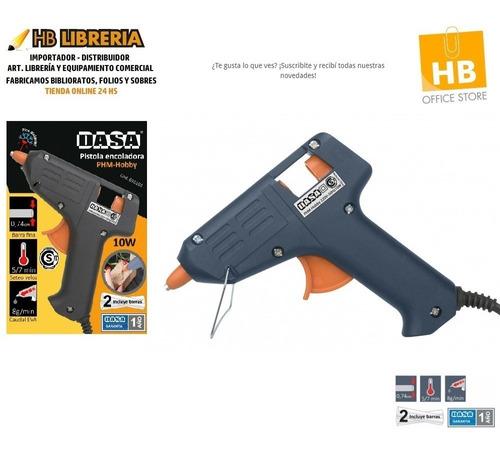 pistola electrica encoladora 40w + 2 barras silicona 220v