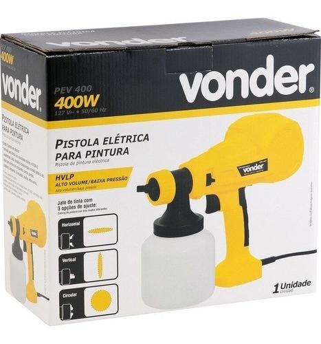 pistola elétrica para pintura vonder hvlp 400w pev400 127v