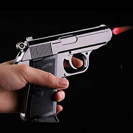 pistola encendedor colección elegante color negro - metal