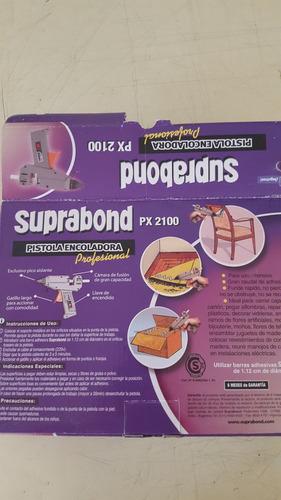 pistola encoladora silicona electrica profesional suprabond