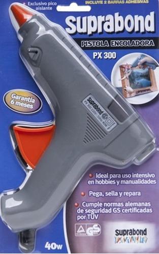 pistola encoladora suprabond modelo px 300 + barras 500g