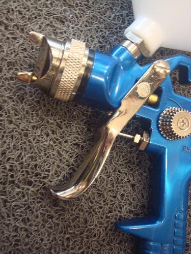 pistola experto hvlp 1,4 mm gravedad pico de bronce y acero