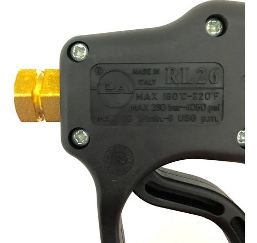 pistola gatillo para hidrolavadora industrial de alta presión italiano pa rl 26 para hidrolavadoras de 2 hp y 5 hp