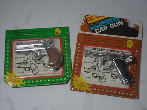 pistola juguete luger- derringer -coleccion lupetoys