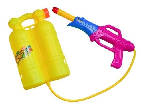 pistola lanca agua com mochila reservatorio piscina praia