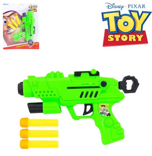pistola lanca dardo espuma com 3 dardos toy story na cartela
