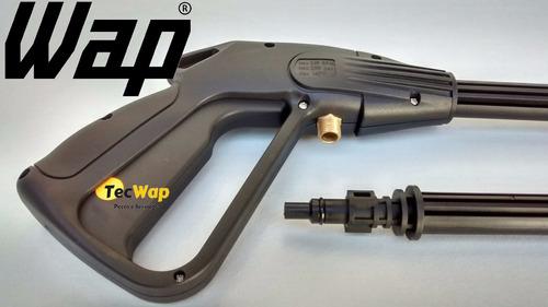 pistola + lança tubeira vario +mangueira lava jato wap brav