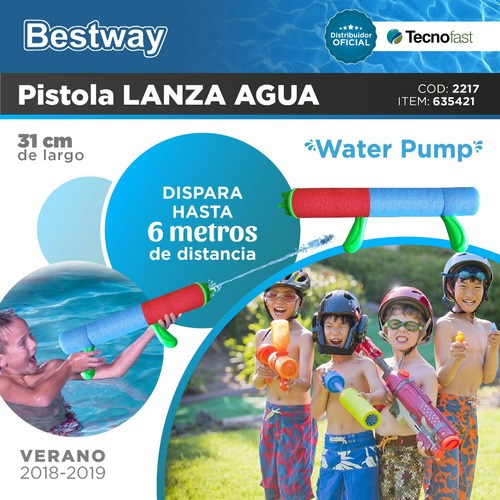 pistola lanza agua water pump 31 cm pileta bestway tecnofast