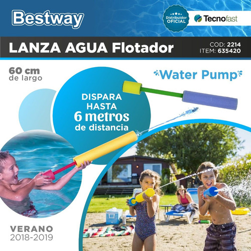 pistola lanza agua water pump 60 cm pileta bestway tecnofast