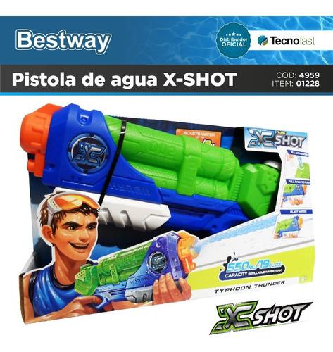 pistola lanza agua x-shot 38 cm pileta bestway tecnofast
