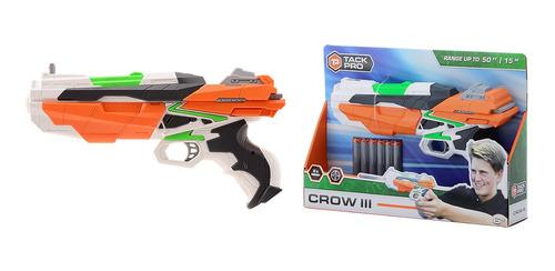 pistola lanza dardos tipo nerf tack pro crow 3 31004  edu