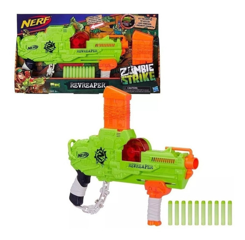 pistola lanzadardos nerf zombie strike revreaper original