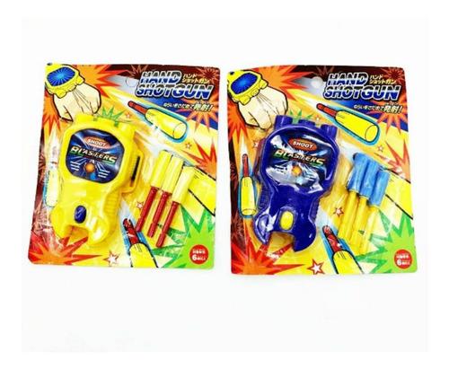 pistola lanzadora de discos juego juguete niños mano muñeca