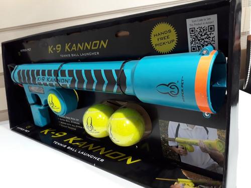 pistola lanzadora de pelotas para perros o mascotas tipo basuka + 3 pelotas alcance de hasta 22 m.