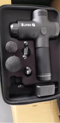 pistola masajeadora super q 6 velocidades 4 cabezales
