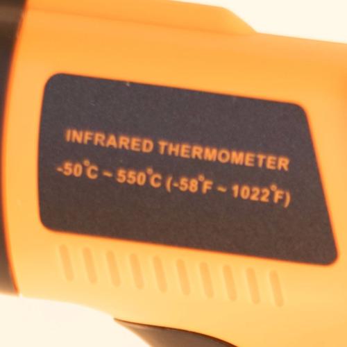 pistola medidora de temperatura pirómetro láser -50° a 550°c