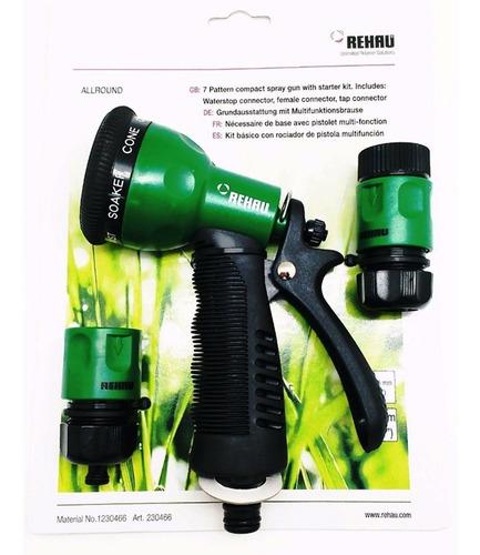 pistola multifunción con kit p/manguera riego rehau pintumm