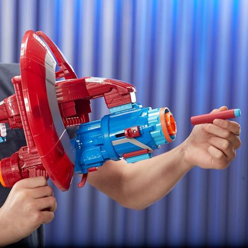 pistola nerf avengers assembler gear escudo e0567 (1584)
