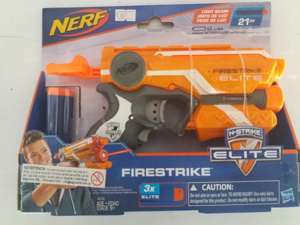 Nerf Blaster Firestrike N-elite Pistola Spara Dardi Compatta Laser Armi  Hasbro