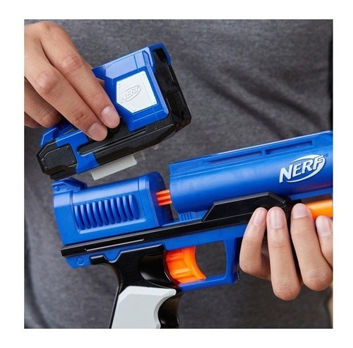 pistola nerf elite surestrike hasbro dardos mira punto rojo