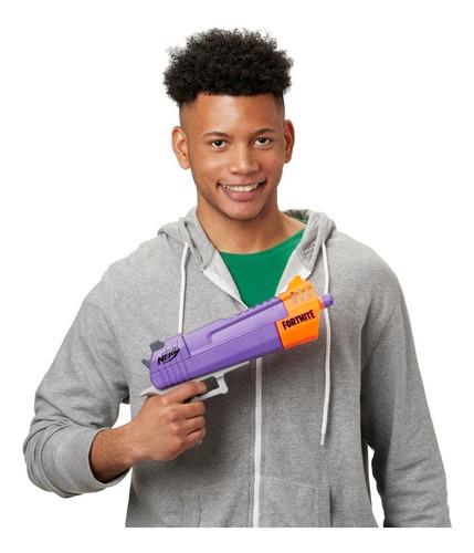 pistola nerf fortnite hasbro e7515 lanzador hc-e + 3 dardos
