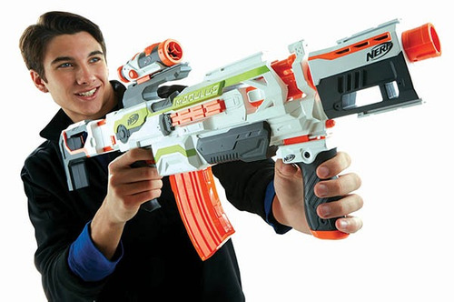 pistola nerf lanzador nerf modulus ecs-10 b1538 envió gratis
