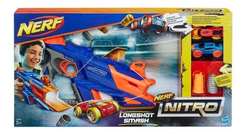 pistola nerf nitro autos longshot smash hasbro / s. boxer